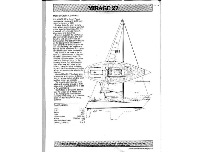 Mirage Yachts Mirage 27